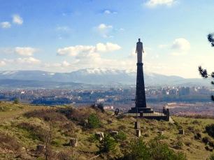 San Cristobal watching over Pamplona