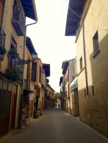 Olites narrow streets